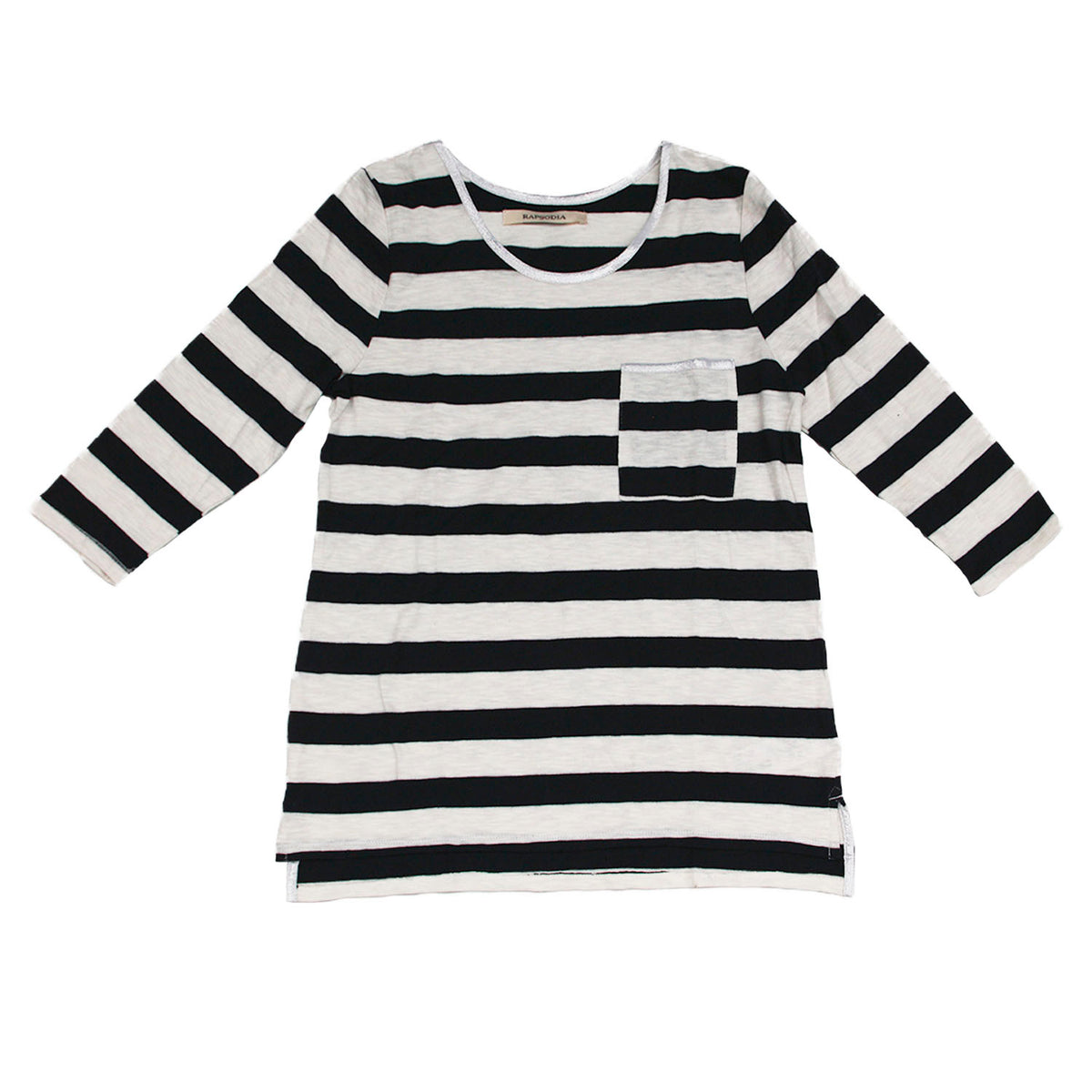 Polera Rapsodia  Mix Stripes Negro