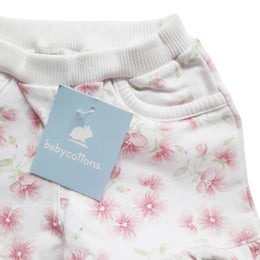 Short Babycottons Maia French Terry Blanco Rosa