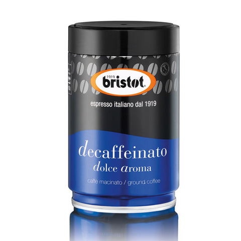 Bristot Decaffeinated Espresso Filter Coffee Retail Tins