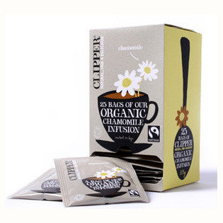 Clipper Fair Trade Organic Camomile Str, Tag & Env