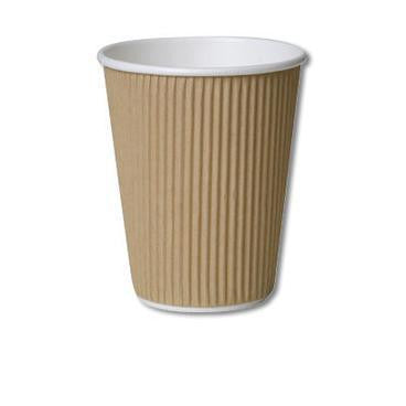 Ripple Cups Brown (x500)