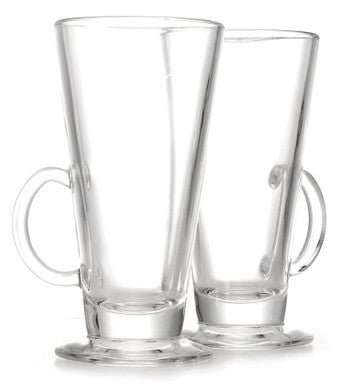 Latte Glasses with handles (x12)
