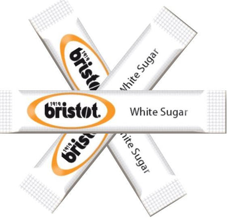 Bristot white sugar sticks (1000 per box)