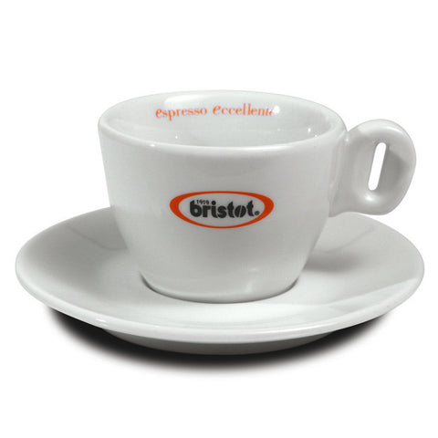 Bristot Cappuccino cups and saucers (x6)
