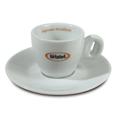 Bristot espresso cups and saucers (x6)