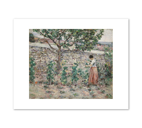 IN THE GARDEN Art Print - Theodore Robinson