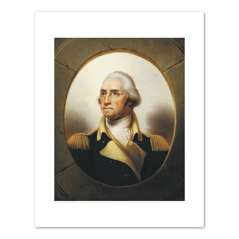 PORTRAIT OF GEORGE WASHINGTON Art Print -  Rembrandt Peale
