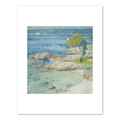 THE OUTER HARBOUR Art Print - Childe Hassam