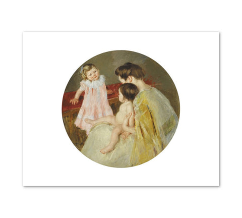 MOTHER AND TWO CHILDREN Art Print - Mary Stevenson Cassatt