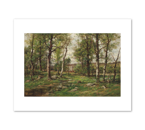 LANDSCAPE WITH BIRCH TREES Art Print - Charles Linford