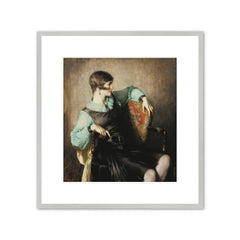 PORTRAIT OF HELEN GALLAGHER (BLACK AND GREEN) Art Print - Malcolm Parcell
