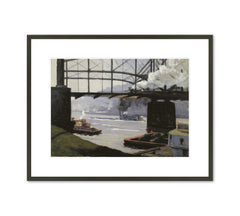 PITTSBURGH RIVER SCENE Art Print - Johanna Knowles Woodwell Hailman