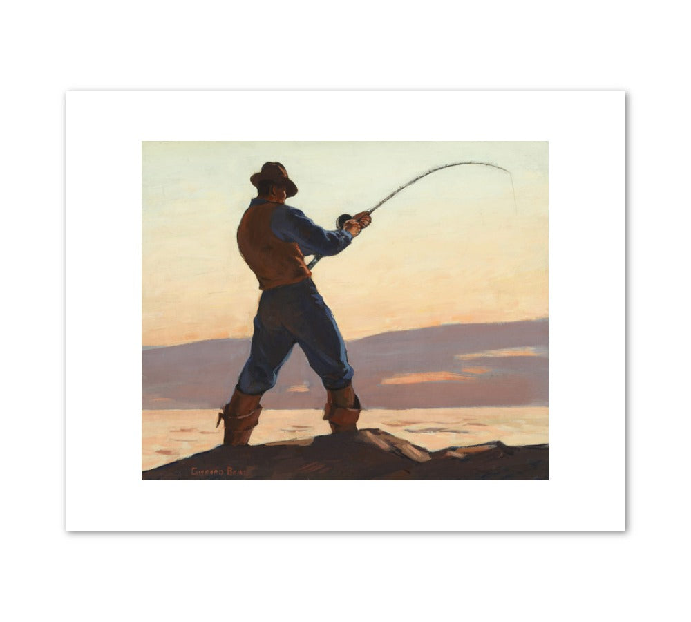 SEA BASS FISHERMAN Art Print - Gifford Reynolds Beal