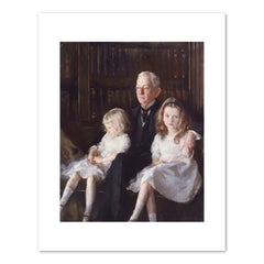 PORTRAIT OF FATHER AND CHILDREN (JOHN J. ALBRIGHT) Art Print - Edmund Charles Tarbell
