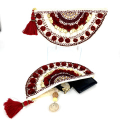 Embellished Front with Tassel Clutch