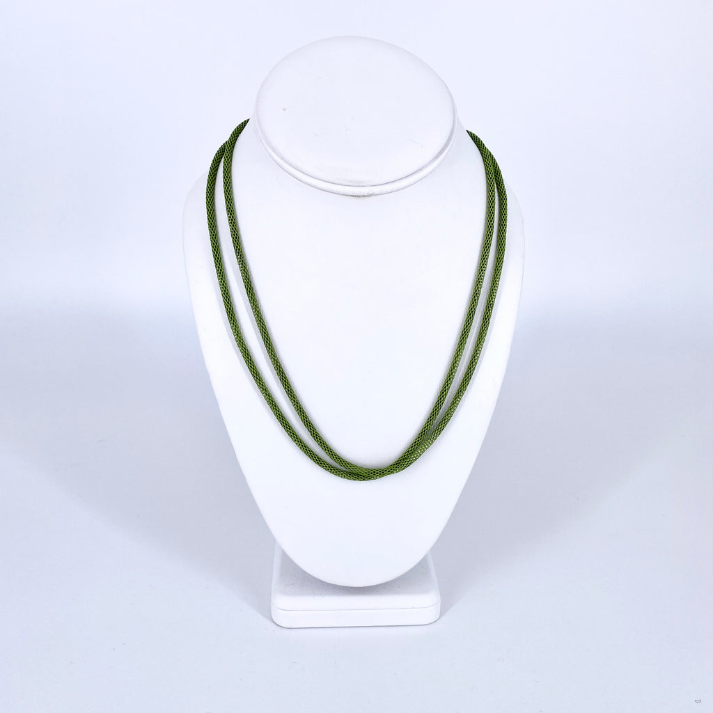 Spring Green Mask Chain Necklace