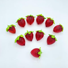 Glass Strawberry Figurine