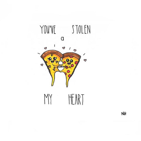 Punny Greeting Cards Pizza Love