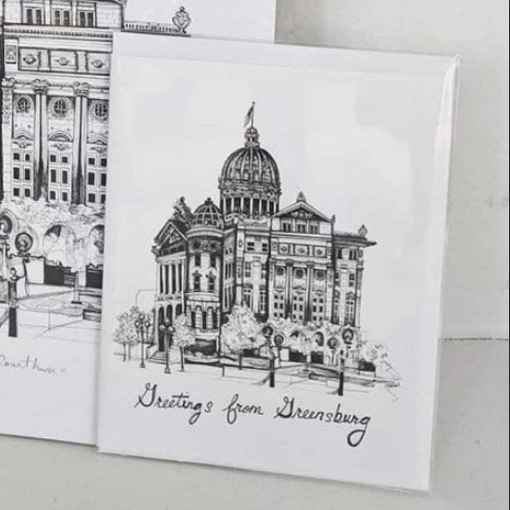 """Greetings from Greensburg"" Card"