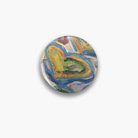 Nothing but Love! Button Pin - D.S Kinsel