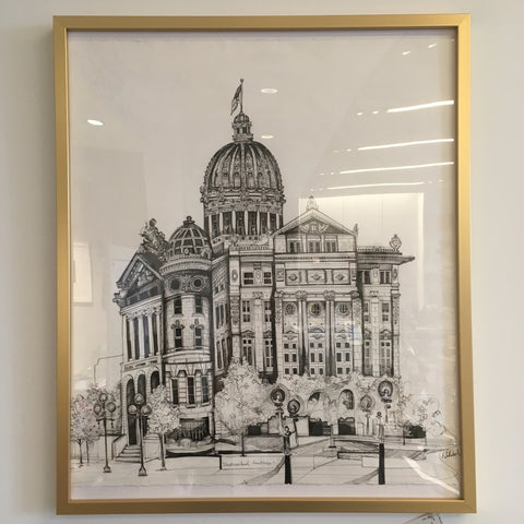 Westmoreland County Courthouse Greensburg, PA Original Drawing