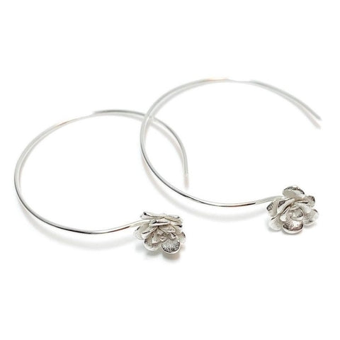 Succulent Hoop Earrings