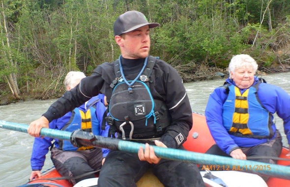 Person, Water Rafting In Alaska With Incontinence