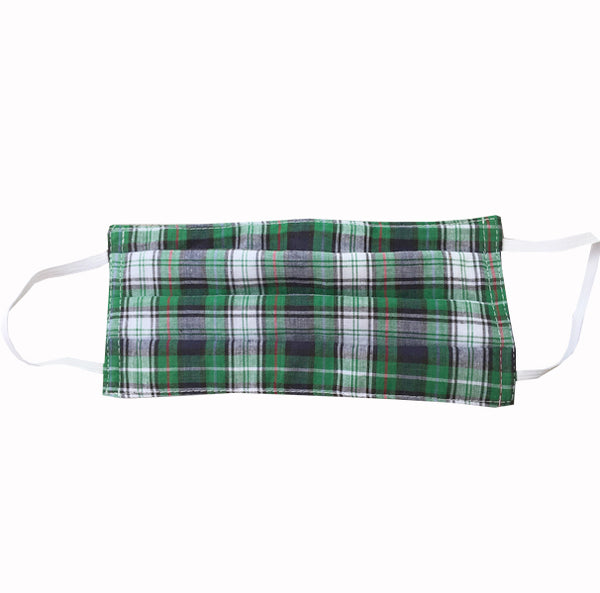 Hand Sewn Mask - Green Plaid - FANNYPANTS® Incontinence panties/ briefs