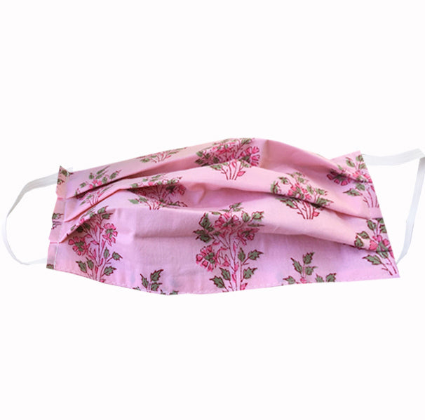 Hand Sewn Mask - Pink Florals - FANNYPANTS® Incontinence panties/ briefs