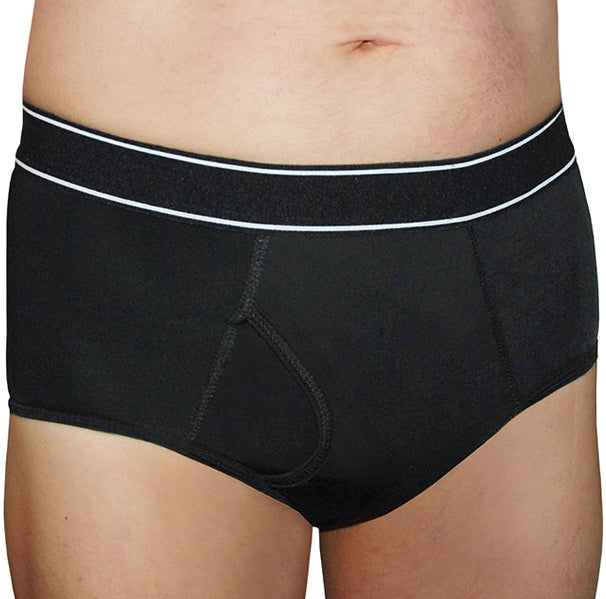 Men's Freedom – Black – Incontinence Briefs - FANNYPANTS® Incontinence panties/ briefs