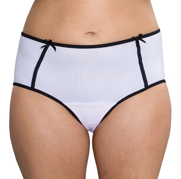 Midnight – White – Women's Incontinence Underwear - FANNYPANTS®