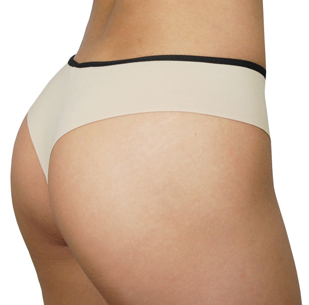 Rio Thong – Nude – Women's Incontinence Underwear - FANNYPANTS® Incontinence panties/ briefs