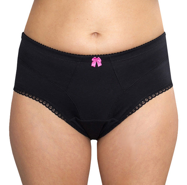 Viva – Black – Women's Incontinence Underwear - FANNYPANTS® Incontinence panties/ briefs