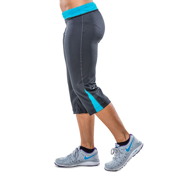 Capris Pants for Women – Sweat & Odor Free – Aqua - FANNYPANTS® Incontinence panties/ briefs