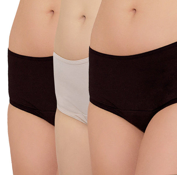 Freedom Period Panties Set – 1 Nude, 2 Black - FANNYPANTS® Incontinence panties/ briefs