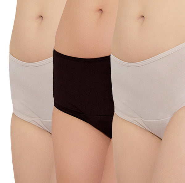 Freedom Period Panties Set – 1 Black, 2 Nude - FANNYPANTS® Incontinence panties/ briefs