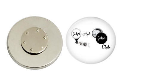 Magnetic Pin Back Button