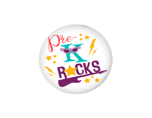 Button | Pre-K Rocks | Badges and Buttons Club