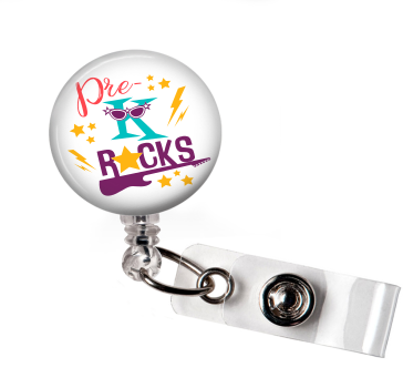Pre-K Rocks | Badge Reel | NP020 | Badges and Buttons Club