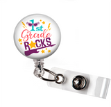 1st grade Rocks Badge Reel | Teacher | N011 - Badges and Buttons Club