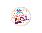 Interchangeable Button | 2nd Grade Rocks - badges-and-buttons-club