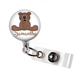Personalized Teddy Bear | Badge Reel | P030 | Badges and Buttons Club