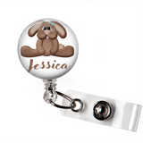 Personalized Rabbit | Badge Reel | P027 | Badges and Buttons Club
