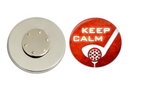 Magnetic Pin Back | Keep Calm Golf | Red Orange Background - badges-and-buttons-club
