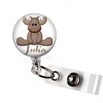 Personalized Moose | Badge Reel | P035 | Badges and Buttons Club