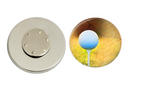 Magnetic Pin Back | Golf | Tan Background | Badges and Buttons Club