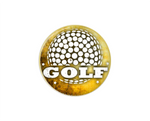 Button | Golf | Tan Background | Badges and Buttons Club
