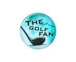 Button | The Golf Fan | Light Blue Background | Badges and Buttons Club