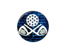 Button | Golf Club | Blue Background | Badges and Buttons Club