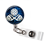 Badge Reel | Golf  Club | Blue Background | Badges and Buttons Club